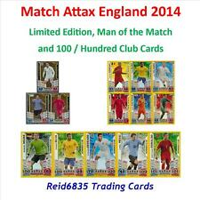 Match Attax England 2014 = Limited Editions, Man of the Match and 100 Club Cards