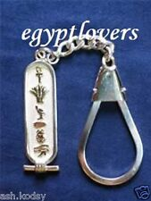 Personalized Name Hieroglyphic,En,Ar custom silver cartouche key chain keychain