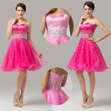 Strapless Homecoming Short Dresses Beaded Organza Prom Ball Evening Dresses y-gs