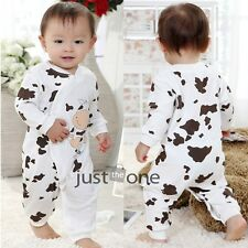 Cute Cow Pattern Cotton Romper Open Style for 0-18 Months Baby Infants Toddlers
