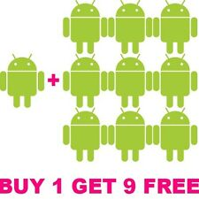 10PCS   Android Robot Stickers decal for cell phones