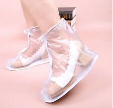 Waterproof Rain Shoes Cover Haute Printed Pink High-top Womens Shoes Rain Gear