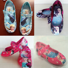 Kids Frozen Princess Anna Elsa Queen Faux Leather Shoes Dancing Shoes For Disney