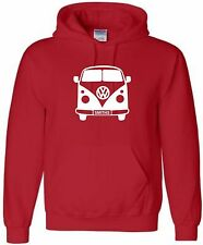 KIDS FULL CAMPERVAN PERSONALISED HOODIE VW HOODY WITH NAME VDUB HOODED SWEAT