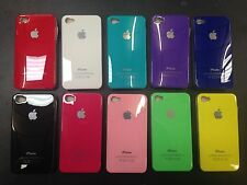 Hard Shiny Glossy Back Case Cover for Apple iPhone 4 4S + free Screen Protector