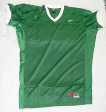 College Authentic Blank Football Jersey Green with White Trim