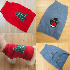 Pet Dog Cat Winter Warm Sweater Knitwear Puppy Coats Clothes Costume Xmas Gift