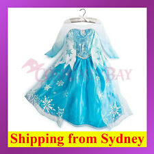 19 Frozen Disney Princess Girl Queen Elsa Anna Costume Cosplay Party Fancy Dress