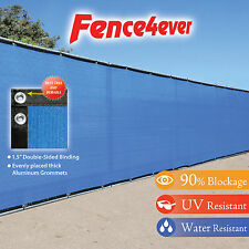 6'Tall x50' 6ft Blue Fence Privacy Screen Cover Mesh Windscreen Yard Fencing