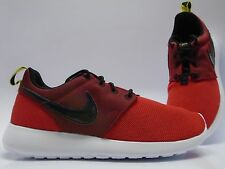 (599728-601) GS Boy's Nike Roshe Run University Red/Black/Tour Yellow 4Y - 7Y