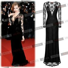 Women Lace Formal Evening Party Wedding Long Prom Gown Bodycon Dress Size 102468