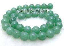 "SALE Big 10mm Round light green jade gemstone beads strands 15""-los516 free ship"