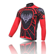 XINTOWN Cycling Jersey Long-Sleeved Red Shirt Airwolf  Wicking Clothing New Tops