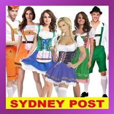 Ladies Mens German Bavarian Oktoberfest Beer Maid Fancy Dress Costume Lederhosen