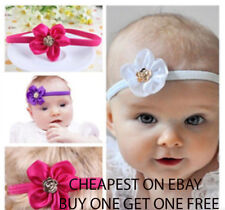 Baby Girls Flower Hair band with Gold Detail