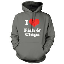 I Love Fish & Chips - Unisex Hoodie / Hooded Top - Food - Present - 9 Colours