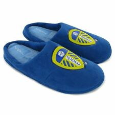 Leeds United/LUFC Blue 'Big Badge' Boys Mules/Slippers - BNWT