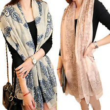 New Brand Fashion Soft Women Long Print Cotton Scarf Wrap Ladies Long Shawl