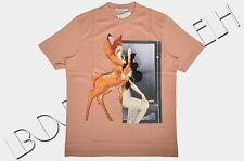 GIVENCHY Authentic New Salmon Pink Colombian Fit Bambi Print Tshirt FW2014/15