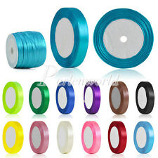 "DIY Satin Ribbon 25 50 Yards Roll 1/8"" 1/4"" 3/8"" 5/8"" 11/2"" 2"" Ribbon Crafts"