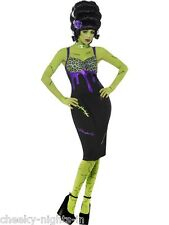Womens Teen Girls Sexy Frankenstein Pin Up Babe Costume Halloween Horror Party