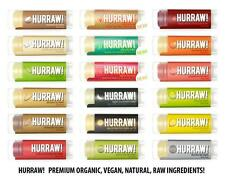 HURRAW! PREMIUM ORGANIC NATURAL VEGAN LIP BALM - SMOOTH STICK - CHOOSE FLAVOUR
