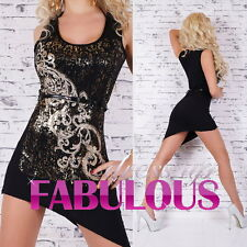 NEW SEXY HIGH LOW DRESS Size 8 10 12 PARTY CLUBBING EVENING WEAR HOTTEST FASHION