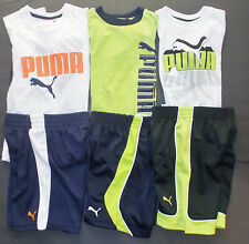Puma Boys 2 Piece Shorts Outfit with T-Shirt 3 Styles to Choose 2T 3T 4T NWT