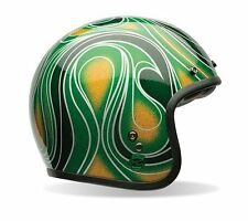 Bell Powersports Custom 500 Chemical Candy Mean Green Open Face Helmet