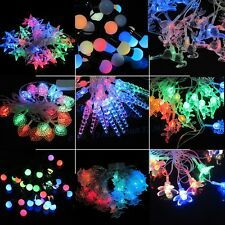 Fairy String lights Multi-color XMAS Wedding party patio Garden christmas decor
