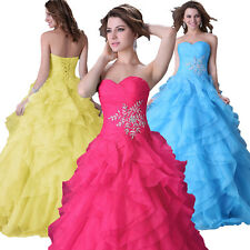2014 Quinceanera Bridesmaid  Bridal Party Gown Wedding Evening Formal Long Dress