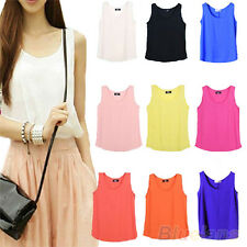 Women's Stylish Glamor Chiffon Sleeveless Shirt Vest Tank Tops Blouse Waistcoat