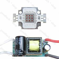 10W UV Blue Green Yellow Red IR LED Diodes Light + ac 85~265V / dc 12~24V driver