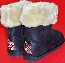 NEW Women's OREGON BEAVERS Black/Orange Pull On Faux Fur Casual Shoes/Boots