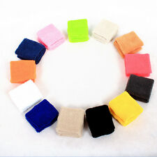 Unisex Sport Tennis Basketball Sweatband Exercise Wristband cotton Wrist Protect
