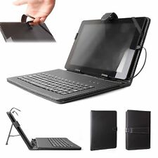 "10"" Black PU Leather QWERTY Keyboard Case for Tablets"
