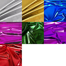 "Metallic Shiny Foil Lame Dress Craft Dance Fabric Material 45"" 114cm Width"