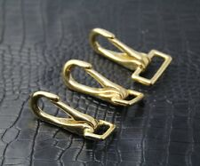 【#SJ24】Solid Brass Snap Hook Leathercraft Especially for Leather Strap !