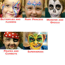 Coloured Party Face Painting Kits for Kids Free Shipping Australia Wide