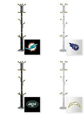 FC741 NFL THEMED BLACK OR WHITE METAL FINISH HAT RACK COAT STAND MAN CAVE