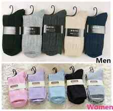 New 5 PAIRS Women's/Men's Winter Cashmere Wool Socks Pure Color Bootie Socks