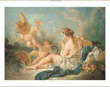 FRANCOIS BOUCHER Nymph Playing The Flute NUDE Print various SIZES available