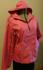 NWT WOMEN'S WINDBREAKER RAINCOAT JACKET MESH LINED PINK PLUS SIZE 1X 2X 3X