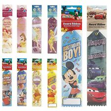 120 x Disney Childs Happy Birthday Party Treat Loot Gift Award Ribbons