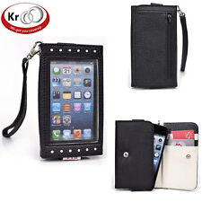 Kroo Clutch Purse with See Thru Screen for Apple iPhone 5 5 s 5 c