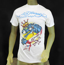 ED HARDY by Christian Audigier Printed Graphic Short Sleeve Tee TShirt M L 2XL