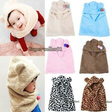 Fashion Nice Warm Winter Hat Coif Hood Scarf For New Toddler Boy Girl Baby Kid