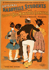 Photo Print Stage Poster Theatre Nashville Students Gideon Big Minstrel Carnival