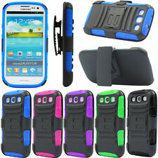 Shockproof Belt Clip Holster Armor Case Cover For SAMSUNG GALAXY S3 SIII i9300