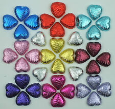LUXURY FOIL WRAPPED MILK CHOCOLATE HEARTS-HIGHEST QUALITY  WEDDING FAVOURS -
